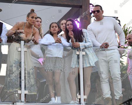 Stock Image of Jennifer Lopez, Emme Maribel Muniz, Natasha Rodriquez and Alex Rodriguez