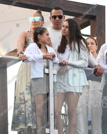 Jennifer Lopez, Emme Maribel Muniz, Natasha Rodriquez and Alex Rodriguez