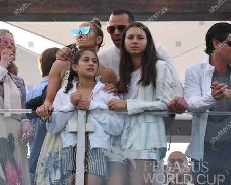 Jennifer Lopez, Emme Maribel Muniz, Natasha Rodriguez and Alex Rodriguez