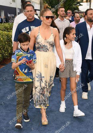 Jennifer Lopez, Emme Maribel Muniz and Maximilian David Muniz
