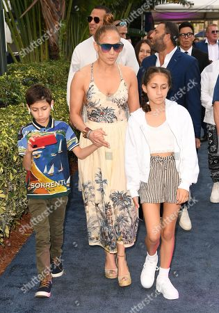 Jennifer Lopez, Emme Maribel Muniz, Maximilian David Muniz and Alex Rodriguez