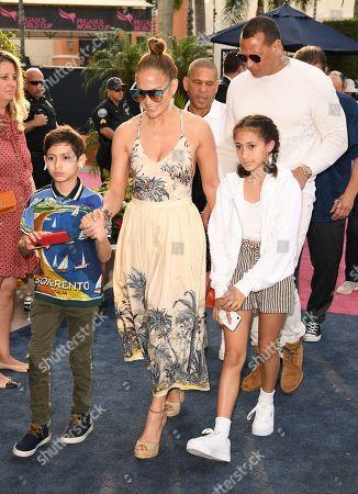 Stock Image of Jennifer Lopez, Emme Maribel Muniz, Maximilian David Muniz and Alex Rodriguez