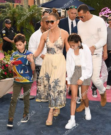 Stock Picture of Jennifer Lopez, Emme Maribel Muniz, Maximilian David Muniz and Alex Rodriguez