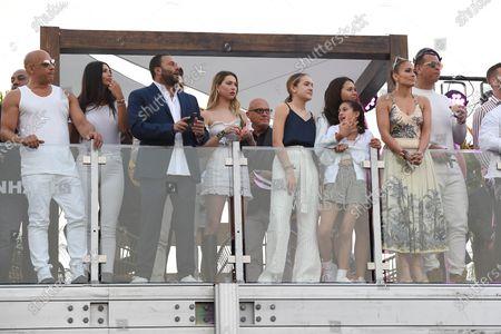 Vin Diesel, David Grutman, Jennifer Lopez, Emme Maribel Muniz, Natasha Rodriquez and Alex Rodriguez