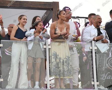Jennifer Lopez, Emme Maribel Muniz, Natasha Rodriquez, Alex Rodriguez