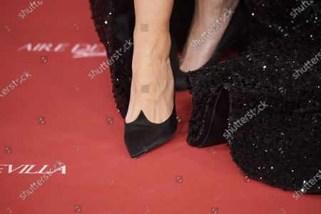 Stock Photo of Cristina Castano, shoe detail
