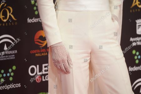 Stock Picture of Eduardo Casanova, glove detail