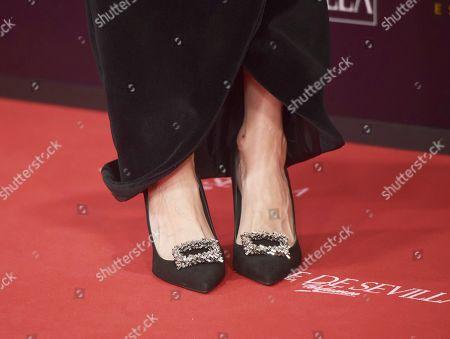 Marta Nieto, shoe detail
