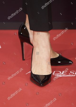 Stock Picture of Raquel Sanchez Silva, shoe detail