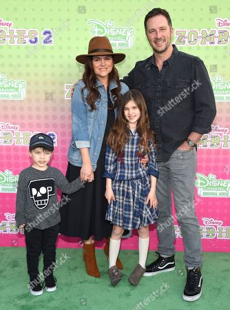 Tiffani Thiessen, Brady Smith, Harper Smith and Holt Smith