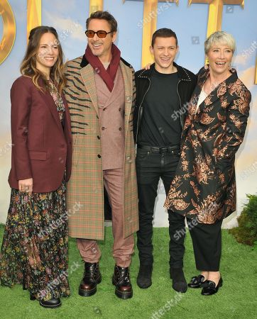 Susan Downey, Robert Downey Jr., Tom Holland and Dame Emma Thompson