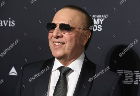 Tommy Mottola arrives at the Pre-Grammy Gala And Salute To Industry Icons at the Beverly Hilton Hotel, in Beverly Hills, Calif