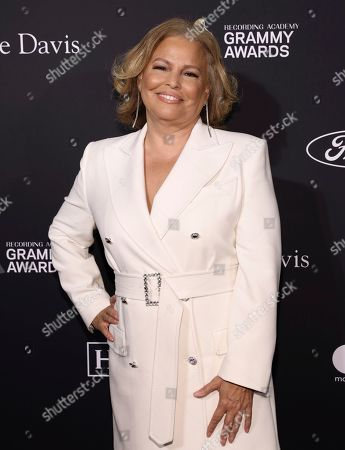 Debra Lee arrives at the Pre-Grammy Gala And Salute To Industry Icons at the Beverly Hilton Hotel, in Beverly Hills, Calif
