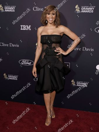 Deborah Cox arrives at the Pre-Grammy Gala And Salute To Industry Icons at the Beverly Hilton Hotel, in Beverly Hills, Calif