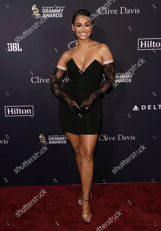 Nazanin Mandi arrives at the Pre-Grammy Gala And Salute To Industry Icons at the Beverly Hilton Hotel, in Beverly Hills, Calif