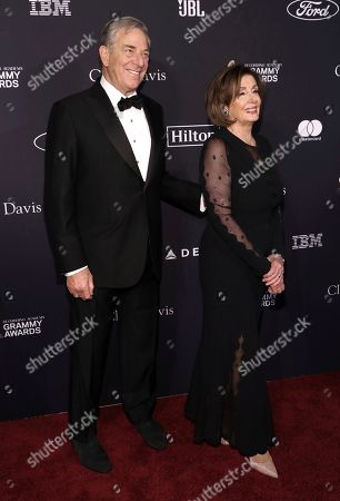 Nancy Pelosi, Paul Pelosi. Speaker of the United States House of Representatives Nancy Pelosi, right, and Paul Pelosi arrives at the Pre-Grammy Gala And Salute To Industry Icons at the Beverly Hilton Hotel, in Beverly Hills, Calif