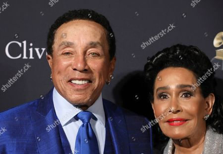Smokey Robinson, Frances Glandney. Smokey Robinson, left, and Frances Glandney arrive at the Pre-Grammy Gala And Salute To Industry Icons at the Beverly Hilton Hotel, in Beverly Hills, Calif