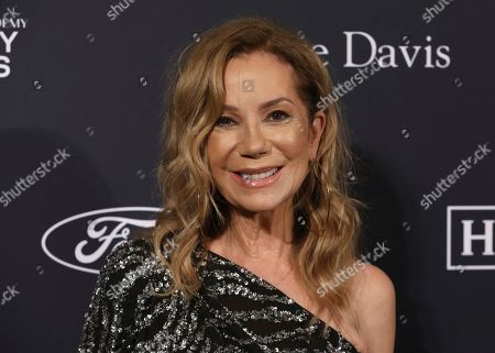 Kathie Lee Gifford arrives at the Pre-Grammy Gala And Salute To Industry Icons at the Beverly Hilton Hotel, in Beverly Hills, Calif