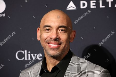 Harvey Mason Jr. arrives at the Pre-Grammy Gala And Salute To Industry Icons at the Beverly Hilton Hotel, in Beverly Hills, Calif