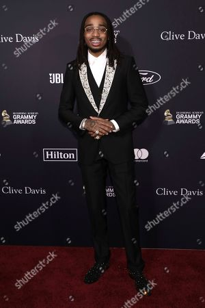 Quavo arrives at the Pre-Grammy Gala And Salute To Industry Icons at the Beverly Hilton Hotel, in Beverly Hills, Calif
