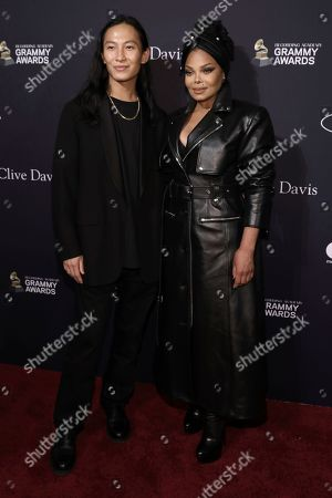 Alexander Wang, Janet Jackson. Alexander Wang, left, and Janet Jackson arrive at the Pre-Grammy Gala And Salute To Industry Icons at the Beverly Hilton Hotel, in Beverly Hills, Calif