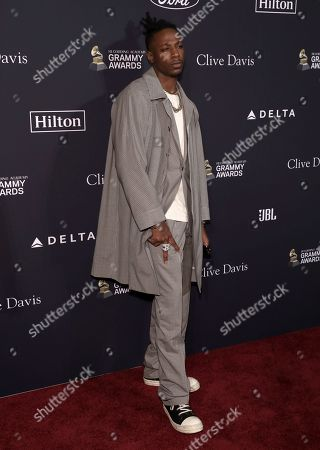 Stock Photo of Joey Badass arrives at the Pre-Grammy Gala And Salute To Industry Icons at the Beverly Hilton Hotel, in Beverly Hills, Calif