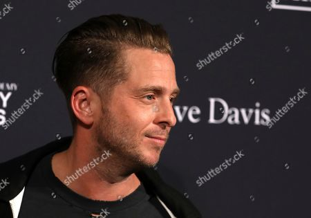 Stock Image of Rob Thomas arrives at the Pre-Grammy Gala And Salute To Industry Icons at the Beverly Hilton Hotel, in Beverly Hills, Calif
