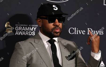 Mike WiLL Made-It arrives at the Pre-Grammy Gala And Salute To Industry Icons at the Beverly Hilton Hotel, in Beverly Hills, Calif