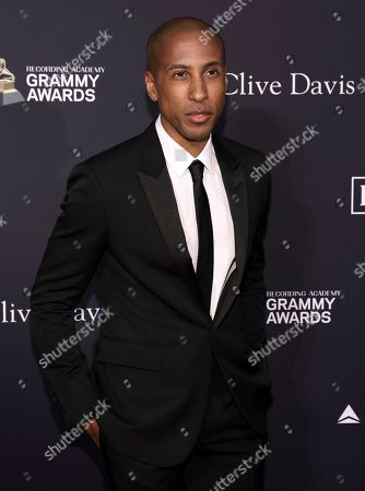 Larry Jackson arrives at the Pre-Grammy Gala And Salute To Industry Icons at the Beverly Hilton Hotel, in Beverly Hills, Calif