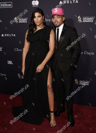 Kirsten Corley, Chance the Rapper. Kirsten Corley, left, and Chance the Rapper arrive at the Pre-Grammy Gala And Salute To Industry Icons at the Beverly Hilton Hotel, in Beverly Hills, Calif