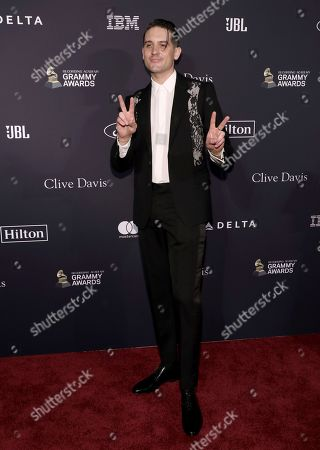 G-Eazy arrives at the Pre-Grammy Gala And Salute To Industry Icons at the Beverly Hilton Hotel, in Beverly Hills, Calif