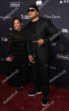 Simone Smith, LL Cool J. Simone Smith, left, and LL Cool J arrive at the Pre-Grammy Gala And Salute To Industry Icons at the Beverly Hilton Hotel, in Beverly Hills, Calif