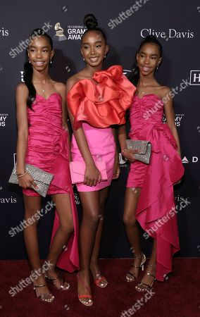 D'Lia Star Combs, Chance Combs, Jessie James Combs. D'Lia Star Combs, from left, Chance Combs, and Jessie James Combs arrive at the Pre-Grammy Gala And Salute To Industry Icons at the Beverly Hilton Hotel, in Beverly Hills, Calif
