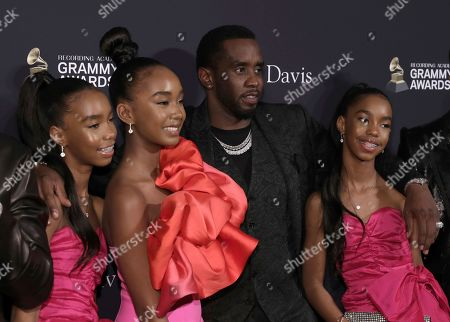 D'Lia Star Combs, Chance Combs, Sean Combs, Jessie James Combs. D'Lia Star Combs, from left, Chance Combs, Sean Combs, and Jessie James Combs arrive at the Pre-Grammy Gala And Salute To Industry Icons at the Beverly Hilton Hotel, in Beverly Hills, Calif