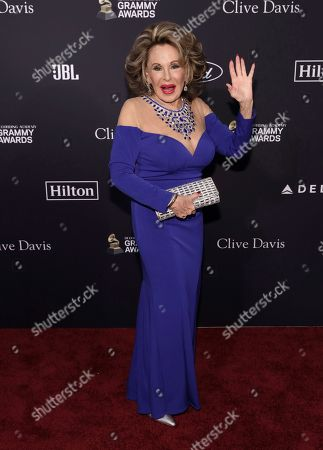 Stock Image of Nikki Haskell arrives at the Pre-Grammy Gala And Salute To Industry Icons at the Beverly Hilton Hotel, in Beverly Hills, Calif
