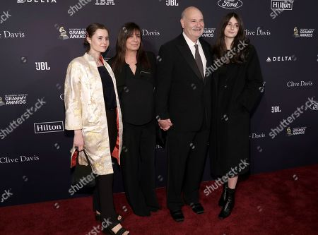 Rob Reiner, second from right, and family arrive at the Pre-Grammy Gala And Salute To Industry Icons at the Beverly Hilton Hotel, in Beverly Hills, Calif