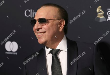 Stock Picture of Tommy Mottola arrives at the Pre-Grammy Gala And Salute To Industry Icons at the Beverly Hilton Hotel, in Beverly Hills, Calif