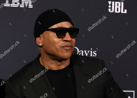 LL Cool J arrives at the Pre-Grammy Gala And Salute To Industry Icons at the Beverly Hilton Hotel, in Beverly Hills, Calif
