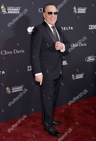 Stock Image of Tommy Mottola arrives at the Pre-Grammy Gala And Salute To Industry Icons at the Beverly Hilton Hotel, in Beverly Hills, Calif