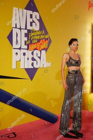"""Actress Jurnee Smollett-Bell poses during a red carpet event for the film """"Birds of Prey"""" in Mexico City, . Birds of Prey is expected to debut in Mexican theaters on February 7"""