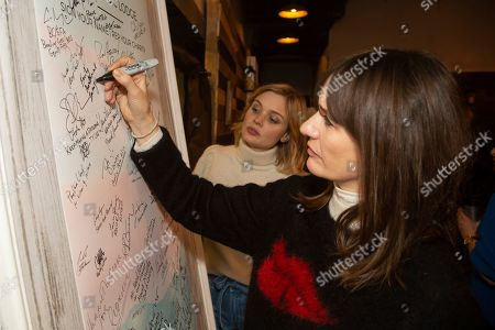 Bella Heathcote, Emily Mortimer. Bella Heathcote, from left, and Emily Mortimer are seen at the Music Lodge during the Sundance Film Festival, in Park City, Utah