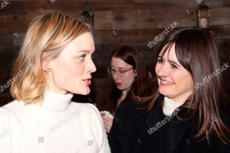Sarah Gadon (Left) and Emily Mortimer (Right) at the Music Lodge during the Sundance Film Festival on Friday, Jan. 24., 2020, in Park City, Utah