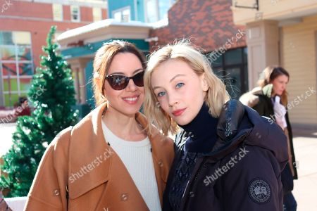 Aubrey Plaza & Sarah Gadon at the Music Lodge during the Sundance Film Festival on Friday, Jan. 24., 2020, in Park City, Utah