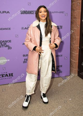 "Gina Rodriguez attends the premiere of ""Kajillionaire"" at the Eccles Theatre during the 2020 Sundance Film Festival, in Park City, Utah"