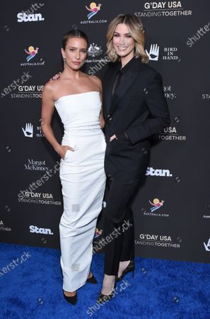 Stock Image of Renee Bargh and Delta Goodrem
