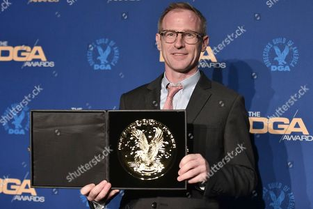 Spike Jonze poses in the press room at the 72nd Annual Directors Guild of America Awards at the Ritz-Carlton Hotel, in Los Angeles