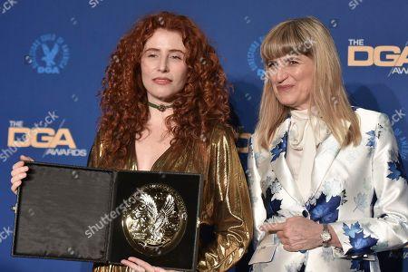 Alma Har'el, Catherine Hardwicke. Alma Har'el, left, and Catherine Hardwicke pose in the press room at the 72nd Annual Directors Guild of America Awards at the Ritz-Carlton Hotel, in Los Angeles