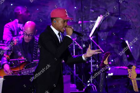 Chance the Rapper performs on stage at the Pre-Grammy Gala And Salute To Industry Icons at the Beverly Hilton Hotel, in Beverly Hills, Calif