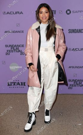 Gina Rodriguez arrives for the premier of the film 'Kajillionaire' at the 2020 Sundance Film Festival in Park City, Utah, USA, 25 January 2020. The festival runs from 22 January to 02 February 2020.