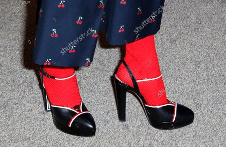 Miranda July shows off her shoes as she arrives for the premier of the film 'Kajillionaire' at the 2020 Sundance Film Festival in Park City, Utah, USA, 25 January 2020. The festival runs from 22 January to 02 February 2020.